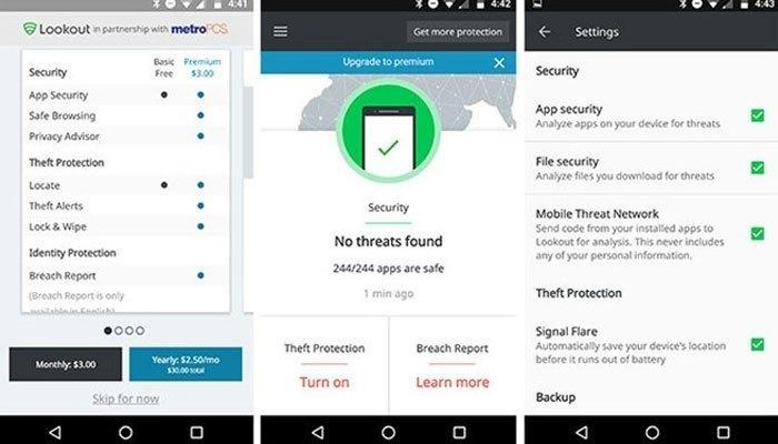 Look out là công cụ bảo mật với những tính năng độc đáo cho điện thoại của bạn