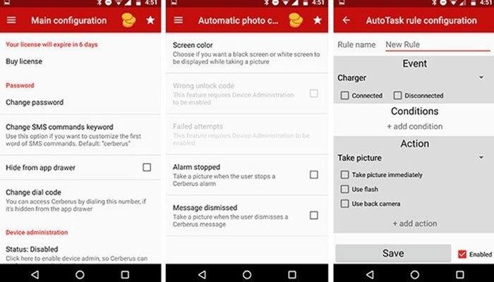 Cerberus sẽ cung cấp cho điện thoại của bạn nhiều tính năng mà các ứng dụng khác không có
