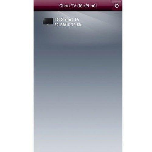 Danh sách smart tivi hoạt động hiện ra và bạn cần chọn tivi muốn kết nối