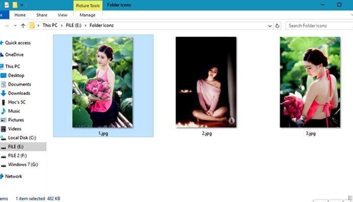 Trên máy tính bạn hãy tạo một thư mục mới chứa hình ảnh mình chọn để tránh xóa nhầm