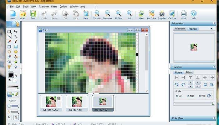 Tiếp đến khi nhìn trên máy tính bạn có thể thấy được trên giao diện của ứng dụng có nhiều hình ảnh nhỏ