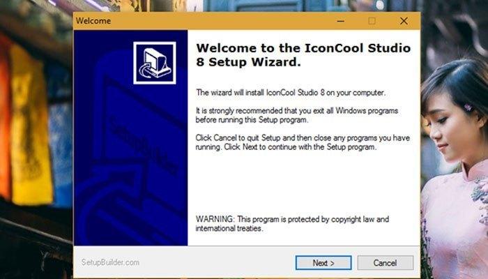 Sau khi tải về, bạn tiến hành cài đặt IconCool Studio vào máy tính