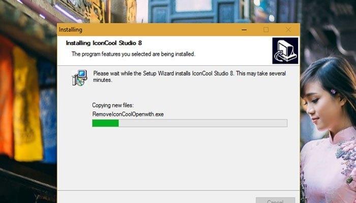 IconCool Studio không cung cấp nhiều cấu hình cài đặt, cũng như đính kèm phần mềm lạ nào khác nên bạn có thể lướt qua nhanh trong lúc cài đặt trên máy tính.