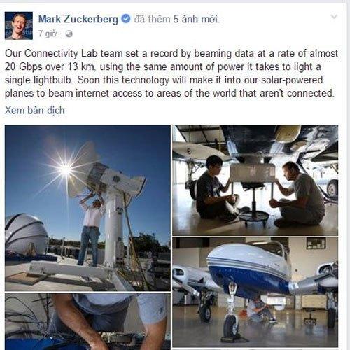 Phát minh được CEO Mark Zuckerberg chia sẻ trên trang Facebook cá nhân của anh
