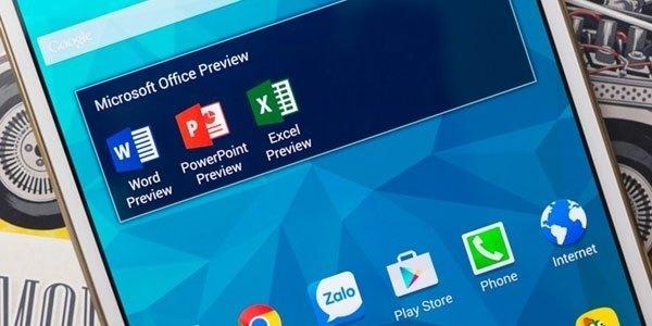 Sau khi đã thực hiện mọi bước trên, Word, Excel và PowerPonit sẽ xuất hiện trên thiết bị của bạn