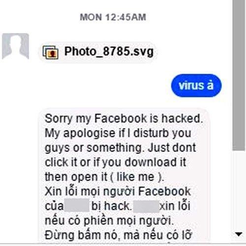 Lỡ nhận được tập tin ảnh này từ bạn bè tốt nhất đừng nên click vào nếu bạn không muốn máy tính dính virus