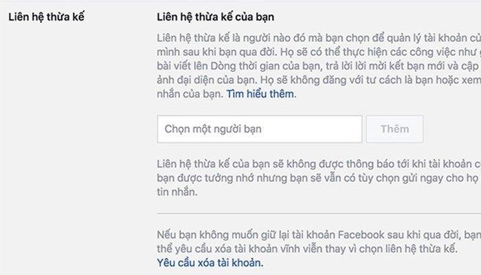 Bạn có thể cài đặt tính năng người thừa kế trên Facebook bằng điện thoại