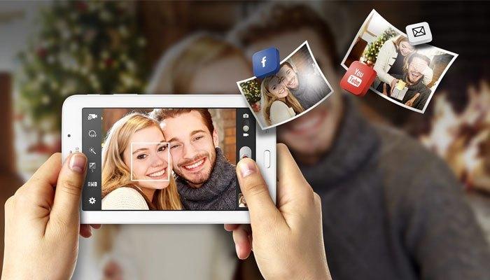Samsung Galaxy Tab 3 V T11 trang bị camera 2MP phù hợp cho việc chụp ảnh lưu giữ khoảnh khắc