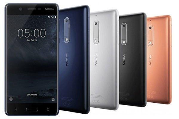 Điện thoại Nokia 5 với cấu hình cùng nhiều phiên bản màu ấn tượng