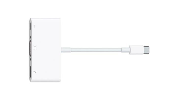 Và để mở rộng các cổng kết nối để sử dụng trên máy tính xách tay, người dùng phải mua adapter chuyển đổi với giá 79 USD