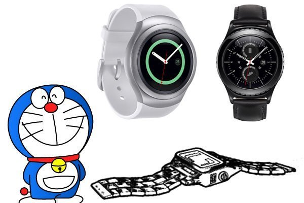 So với máy radio đeo tay, đồng hồ Gear S2 có vẻ nhỉnh hơn về thiết kế lẫn tính năng