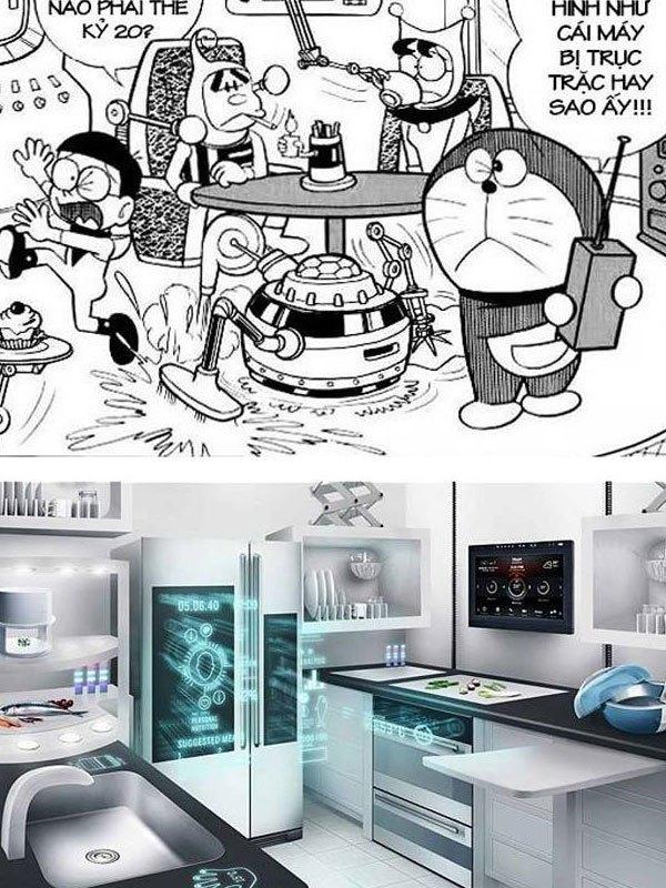 """Ngôi nhà thông minh """"lộn xộn"""" của Doraemon và ngôi nhà thông minh cực ngăn nắp của Samsung"""