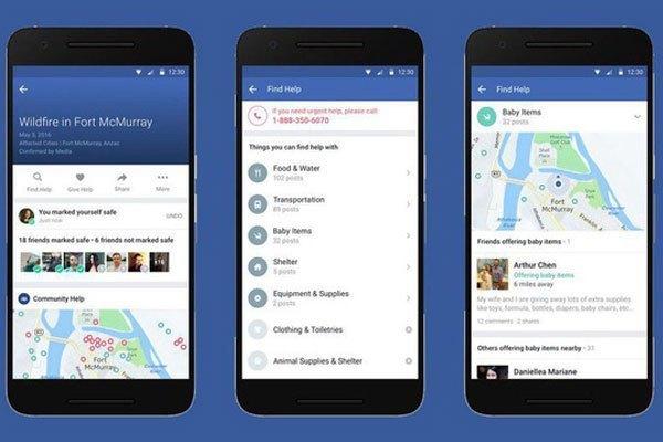 Facebook giới thiệu chức năng giúp cứu trợ cho người gặp nạn