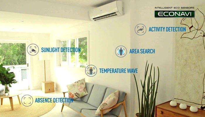 Cảm ứng ECONAVI trên máy lạnh Panasonic giúp điều hòa nhiệt độ khiến bạn cảm thấy dễ chịu nhất