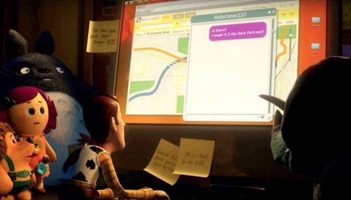 Chiếc laptop mà những nhân vật hoạt hình này đang sử dụng chính là Macbook hiện đại của Apple