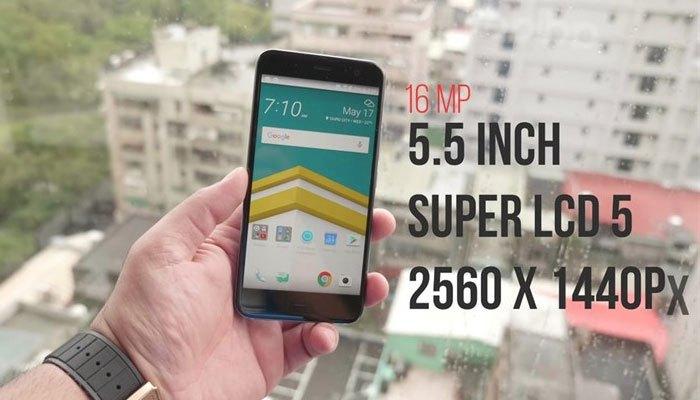 """Điện thoại HTC U11 sở hữu màn hình """"khủng"""" 5.5 inch cùng độ phân giải lên đến 2K."""