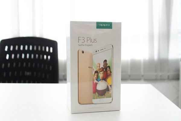 Hộp điện thoại OPPO F3 Plus vẫn mang sự quen thuộc