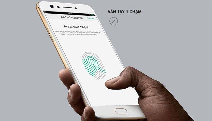 Vân tay một chạm của điện thoại OPPO F3 siêu nhạy
