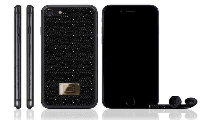 Nhìn như một bầu trời đầy sao trên lưng của chiếc điện thoại iPhone
