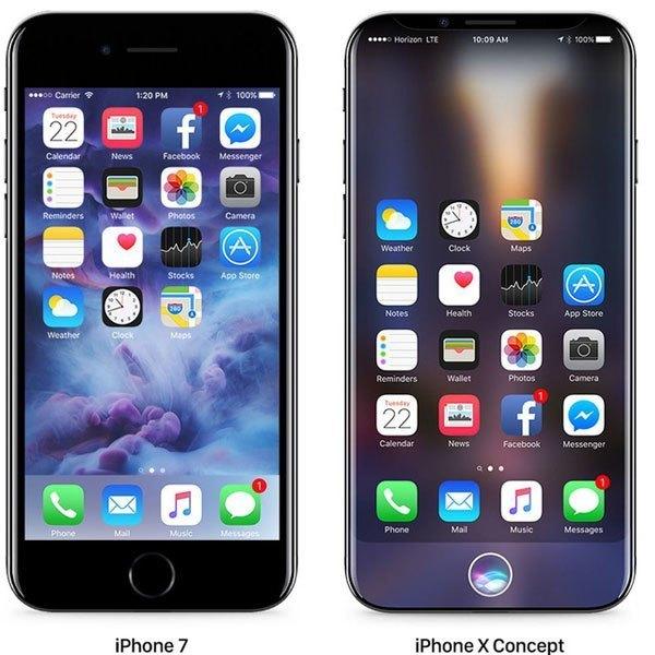 Điện thoại iPhone 7 và iPhone X đọ dáng bên nhau, bạn chọn chiếc nào?