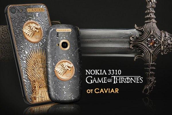 """Bộ đôi điện thoại iPhone 7 và Nokia 3310 """"Game of Thrones"""" với thiết kế đẹp mắt nhanh chóng """"hớp hồn"""" người hâm mộ bộ phim này"""