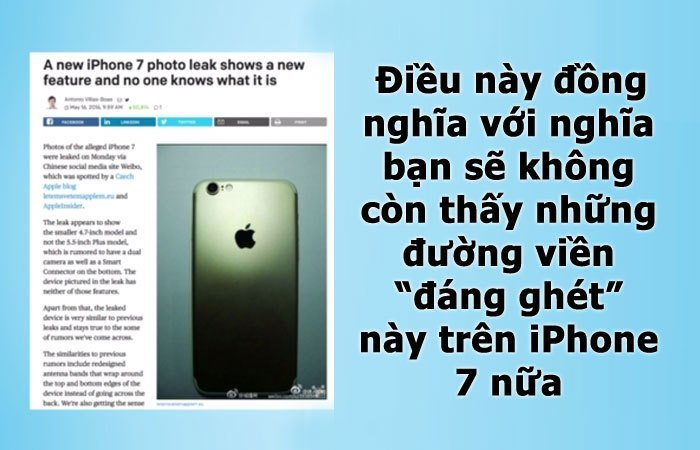 iphone 7 sẽ được trình làng với kiểu dáng hoàn toàn mới