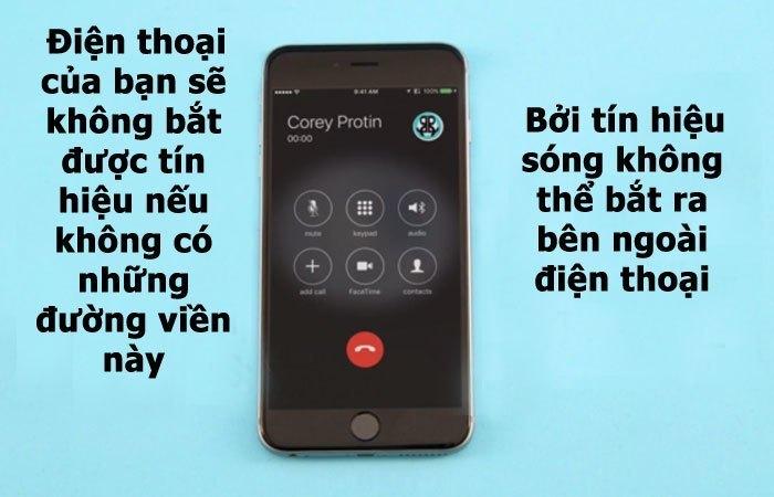 sóng ăn-ten bắt tín hiệu iphone