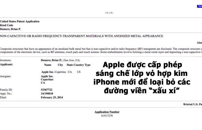 apple được cấp bằng sáng chế mới