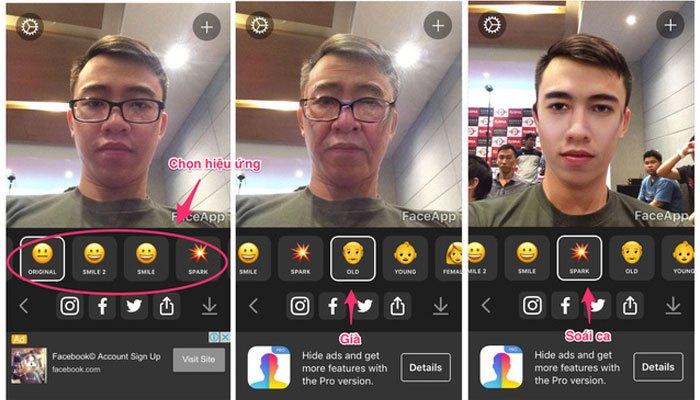 Với ứng dụng FaceApp bạn có thể biến thành ông lão hay soái ca tùy ý