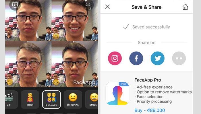 Ghép ảnh với tùy chọn Collage của ứng dụng FaceApp