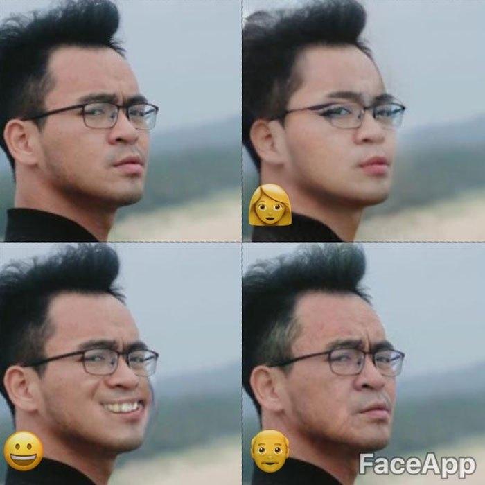 Với ứng dụng FaceApp trên điện thoại, từ một khuôn mặt nghiêm túc giờ đã sinh thêm 4 biến thể khuôn mặt cực kỳ vui nhộn.