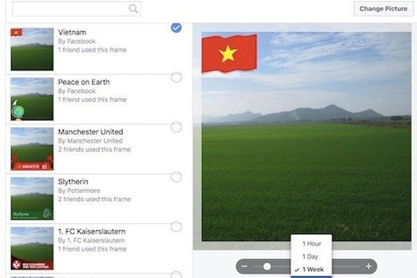 Đổi ảnh đại diện Facebook với lá cờ trên máy tính