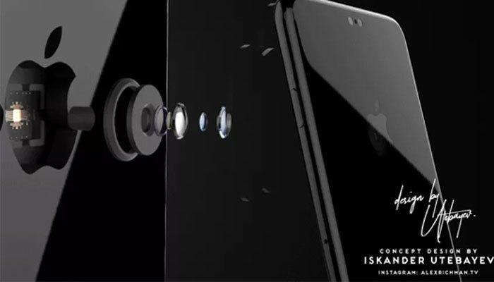 """Điện thoại iPhone 8 sẽ được tích hợp camera vào logo """"táo khuyết"""""""