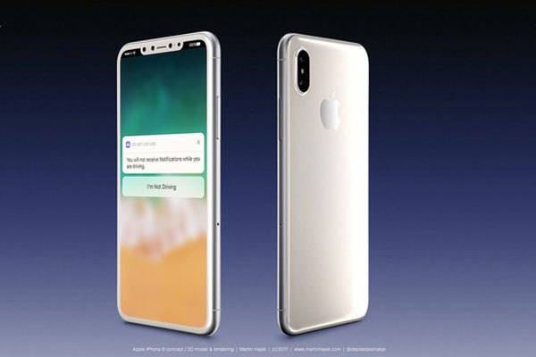 Nút Home vật lý không còn trên mặt trước điện thoại iPhone 8