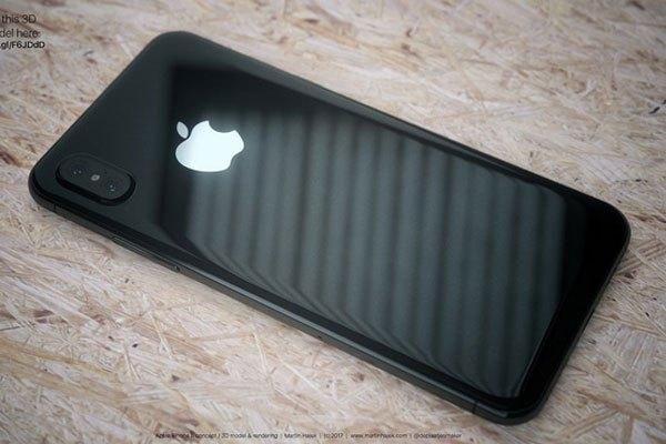 Điện thoại iPhone màu đen trở nên liền mạch hơn so với bản thiết kế màu trắng.
