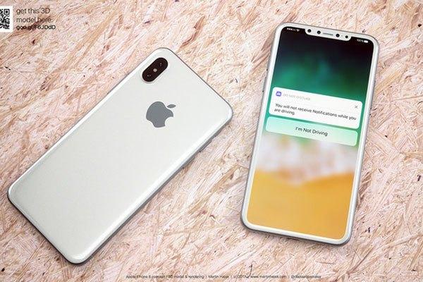 Điện thoại iPhone 8 có thể sẽ sử dụng chất liệu hai mặt kính và sườn máy cấu thành từ thép không gỉ.