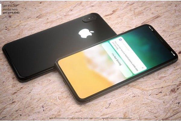 Không chỉ có màu trắng, concept điện thoại iPhone 8 của Martin Hajek còn sở hữu màu đen tinh tế.