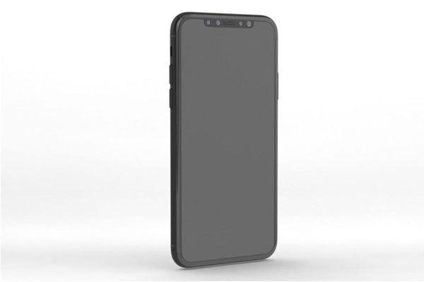 Viền màn hình trên điện thoại iPhone 8 đã biến mất, tạo cảm giác màn hình rộng trong một tổng thể không quá lớn