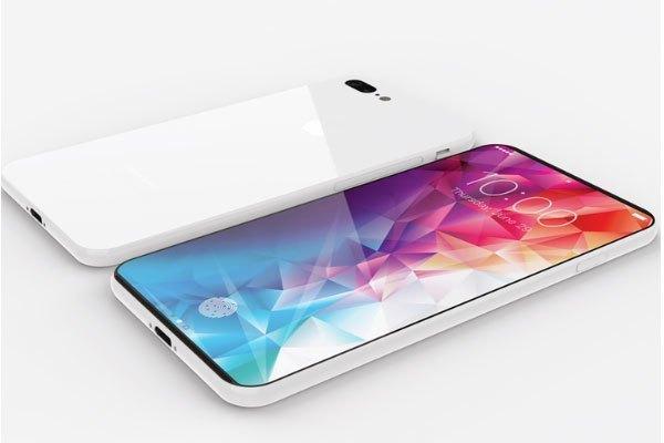 Mặt lưng chiếc điện thoại iPhone 8 trong concept khá bóng bẩy, tạo vẻ sang trọng cho người dùng