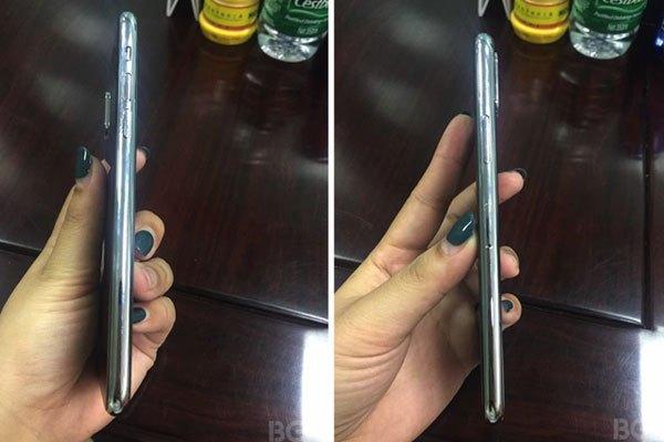 Mặt bên của điện thoại iPhone 8