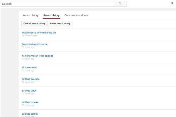 Các nội dung đã được trẻ em xem trên Youtube được hiển thị đầy đủ trên điện thoại, máy tính bảng của bạn