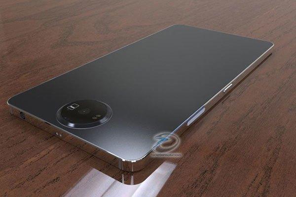 Mặt lưng điện thoại Nokia 8 là kim loại phẳng bóng mờ tinh tế