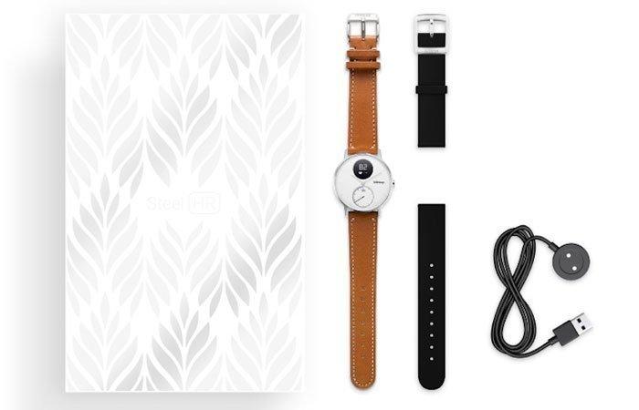 Trộn bộ phụ kiện đi kèm khi bạn mua đồng hồ thông minh Withings Steel HR