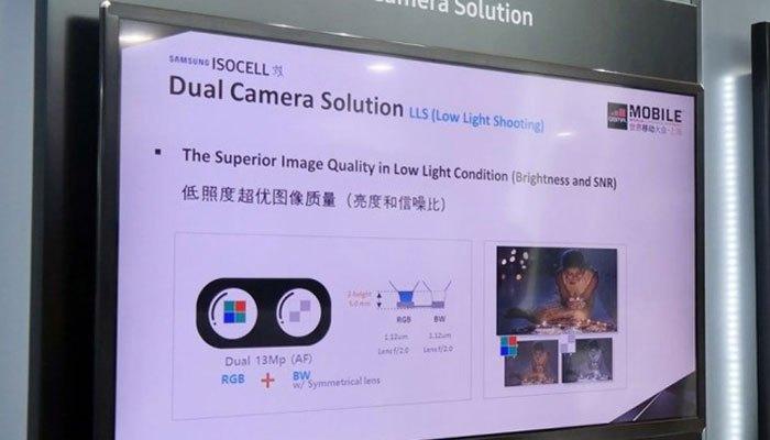Bức ảnh tại quầy trưng bày của Samsung đã chứng tỏ việc điện thoại Galaxy Note 8 được trang bị camera kép là điều hoàn toàn có thể xảy ra