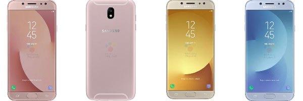 Điện thoại Galaxy J7 2017 sở hữu nhiều phiên bản màu sành điệu