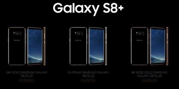 Và đây là của điện thoại Galaxy S8 Plus