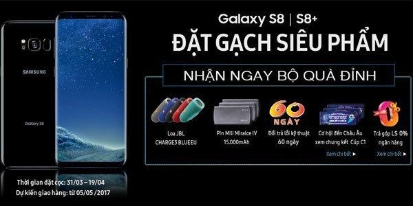 Đặt trước Galaxy S8 hoặc S8 Plus để nhận ưu đãi siêu hot tại Nguyễn Kim