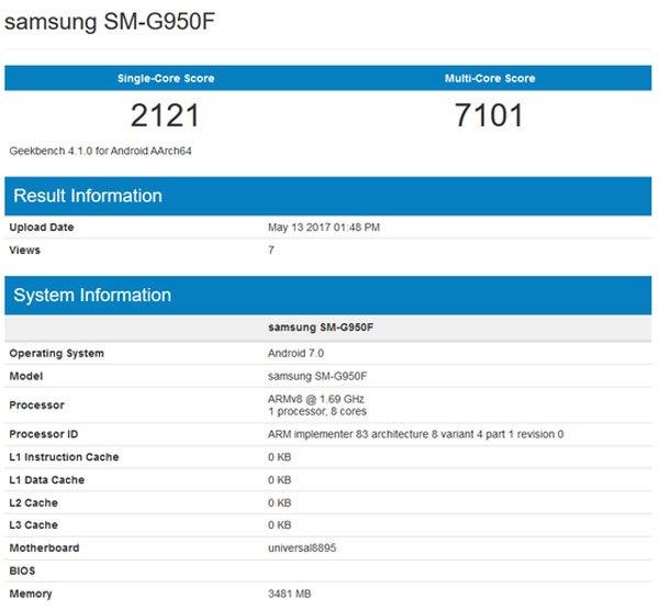 Kết quả thử nghiệm hiệu năng điện thoại Galaxy S8