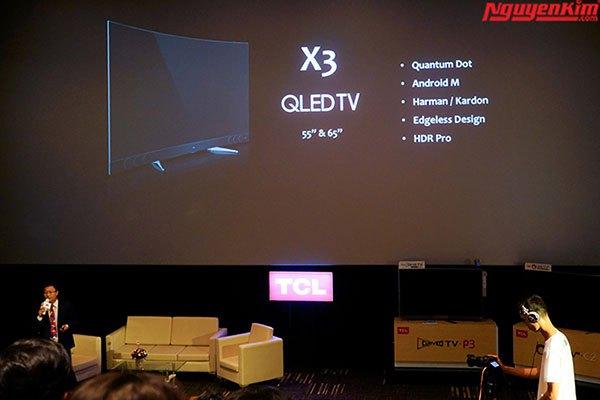 Chiếc tivi TCL QLED X3 sẽ được trình làng với 2 kích thước màn hình
