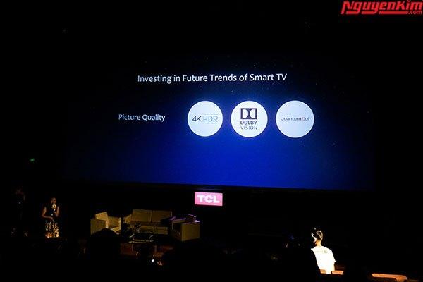 Nhiều công nghệ âm thanh hiện đại được trang bị trên tivi TCL